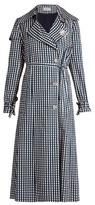 Preen by Thornton Bregazzi Jette gingham-print twill trench coat