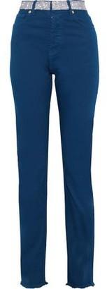 Alexandre Vauthier Crystal-embellished High-rise Skinny Jeans