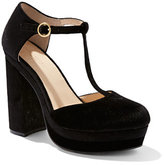 New York & Co. Eva Mendes Collection - Velvet T-Strap Platform Pump