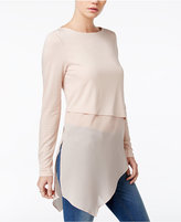 Bar III Layered Mixed-Media Top, Only at Macy's