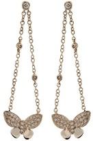 Effy Jewelry 14K Rose Gold Diamond Butterfly Earrings, .29 TCW