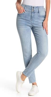 Seven7 High Rise Triple Button Skinny Jeans