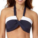 Liz Claiborne Colorblock Molded Bandeau Swim Top