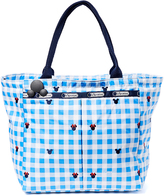 Le Sport Sac Mickey Mouse Check & Bows Small Everygirl Tote