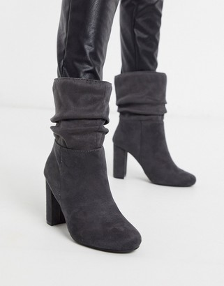 Lipsy faux suede slouch boots
