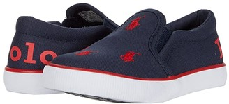 Polo Ralph Lauren Kids Bal Harbour Repeat II (Toddler) (Navy Canvas/Red Polo/Red Repeat Polo Print) Boy's Shoes