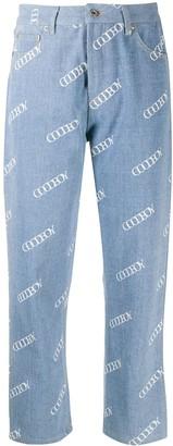 goodboy Logo Print Cropped Jeans