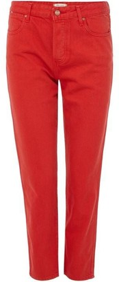 Wrangler Cropped Straight Jeans in Red