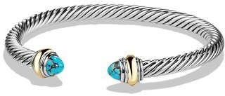 David Yurman Cable Classics Bracelet with Turquoise and 14K Gold
