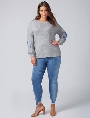 Lane Bryant Blouson-Sleeve Sweatshirt