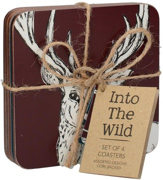 Kitchen Craft Into the Wild Pack of 4 Premium Coasters