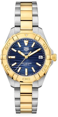 Tag Heuer Aquaracer Two-Tone Stainless Steel Bracelet Watch