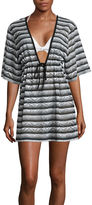 A.N.A a.n.a Stripe Crochet Swimsuit Cover-Up Dress