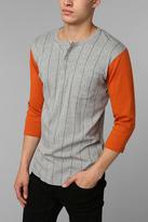 Brixton Detroit 3/4 Sleeve Stripe Henley Shirt
