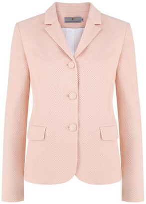 Klaudia Karamandi Vera Nude Fitted Cotton-Mix Blazer