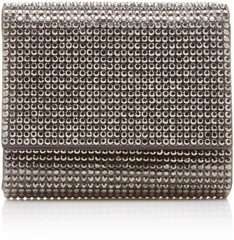 Judith Leiber Couture Micro Fizzy Crystal-Embellished Silk-Satin Shoul