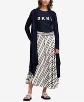 DKNY Open Asymmetrical-Hem Duster Cardigan