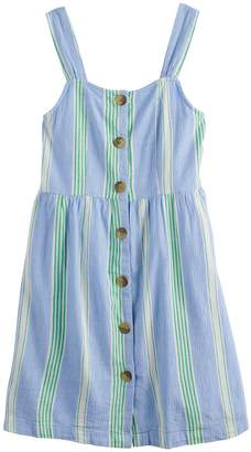 So Girls 7-16 SO Button Front Dress
