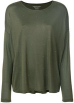 Majestic Filatures oversized embellished jersey top