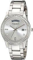 Akribos XXIV Women's AK691SS Impeccable Silver-tone Stainless Steel Crystal Bezel Bracelet Watch