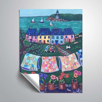 ArtWall More Cottages and Quilts, Removable Wall Art Mural by Holly Wojahn