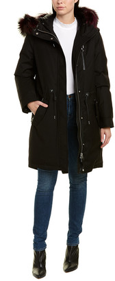 Mackage Rena Leather-Trim Coat