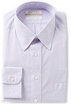Roundtree & Yorke Gold Label Regular Full-Fit Point Collar Striped Dress Shirt
