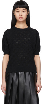 Comme des Garcons Black Openwork Short Sleeve Sweater