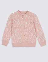 Marks and Spencer All Over Print Zip Through Sweatshirt (3 Months - 5 Years)