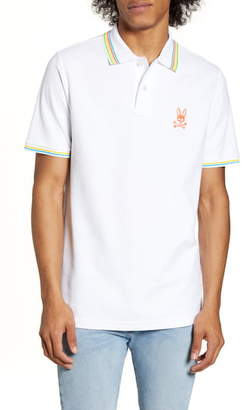 Psycho Bunny Camberwell Tipped Pique Polo