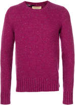 Burberry flecked crew neck sweater