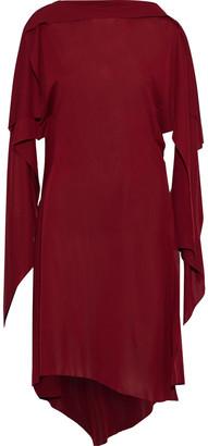 Thierry Mugler Asymmetric Draped Cady Dress