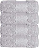 Enchante Home Turner 4-Piece Turkish Zero Twist-Cotton Bath Towel Set