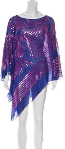 Zandra Rhodes Embellished Silk Top