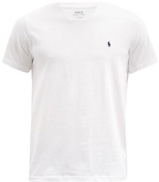 Polo Ralph Lauren Logo Embroidered Cotton Pyjama T Shirt - Mens - White