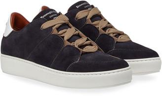 Ermenegildo Zegna Men's Tiziano Suede Low-Top Sneakers