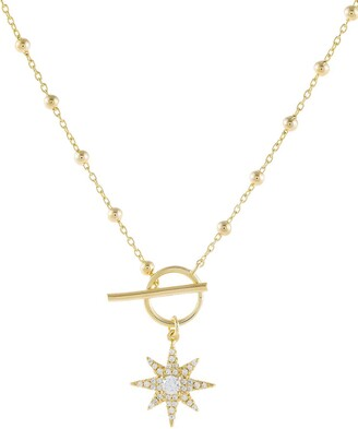 Adina's Jewels Starburst Pendant Necklace