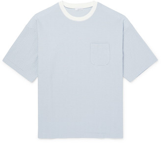Nanamica Striped Cotton And Coolmax-Blend Seersucker T-Shirt