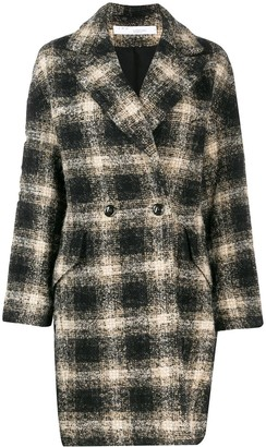 IRO Checked Double Breasted Coat