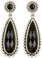 Lagos Sterling Silver Maya Onyx Large Teardrop Earrings