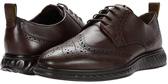 Ecco ST.1 Hybrid Lite Brogue (Amber) Men's Shoes