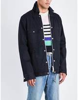 Sacai Velvet-trim Embroidered Denim Jacket