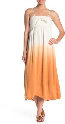 Coco + Jaimeson Metallic Stripe Ombre Smocked Midi Dress