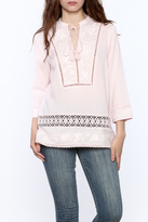 Plenty by Tracy Reese Pink Peasant Blouse