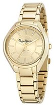 Pepe Jeans Alice Women's Quartz Watch with Blue Dial Analogue Display and Brown Leather Strap R2351101501
