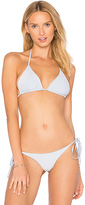 Frankie's Bikinis Frankies Bikinis Sky Top in Baby Blue. - size M (also in )