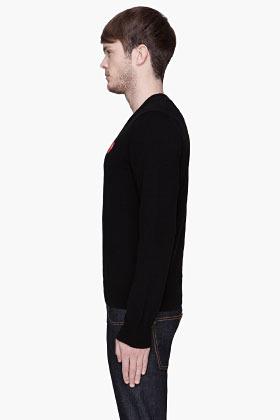 Comme des Garcons Black Red Logo sweater