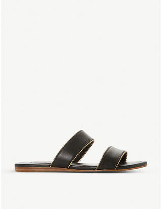 Dune Loupez bead-trimmed leather sandals
