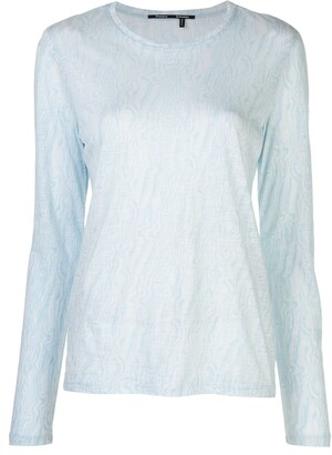 Proenza Schouler feather-printed longsleeved T-shirt