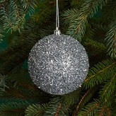 Bloomingdale's Silver Tinsel Ball Ornament - 100% Exclusive